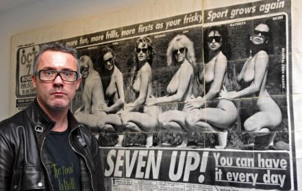 Damien Hirst with Lucas' Seven Up