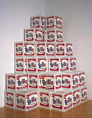 Warhol Brillo-boxes