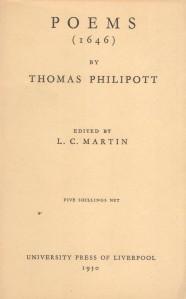 Thomas Philipott Poems (1646)