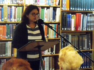 Fawzia Kane reading with Stonewood Press (2014)